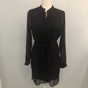 Banana Republic black shirt dress